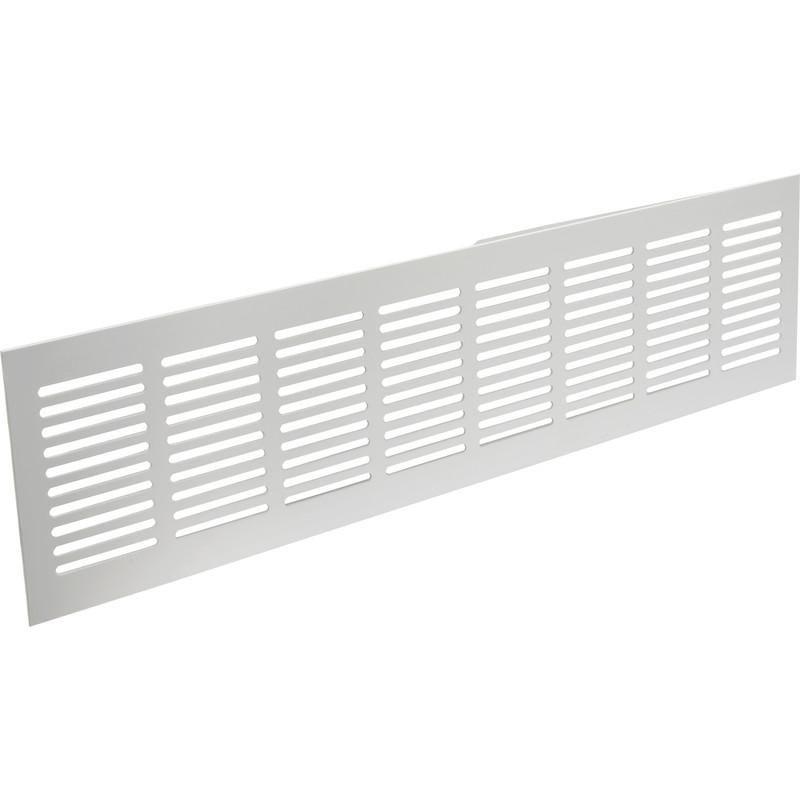 grille de plinthe aluminium 400x100mm blanc comparer les. Black Bedroom Furniture Sets. Home Design Ideas