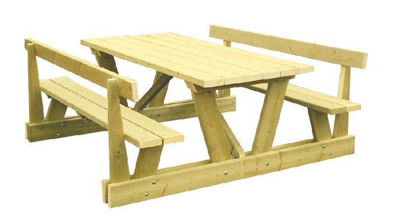 Tables publiques en bois tous les fournisseurs table urbaine bois table ville bois table - Table pique nique en bois ...