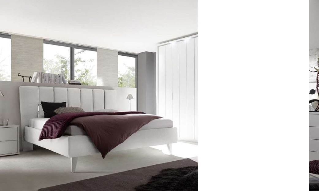 chambre adulte design laque blanc et chrome igrid. Black Bedroom Furniture Sets. Home Design Ideas