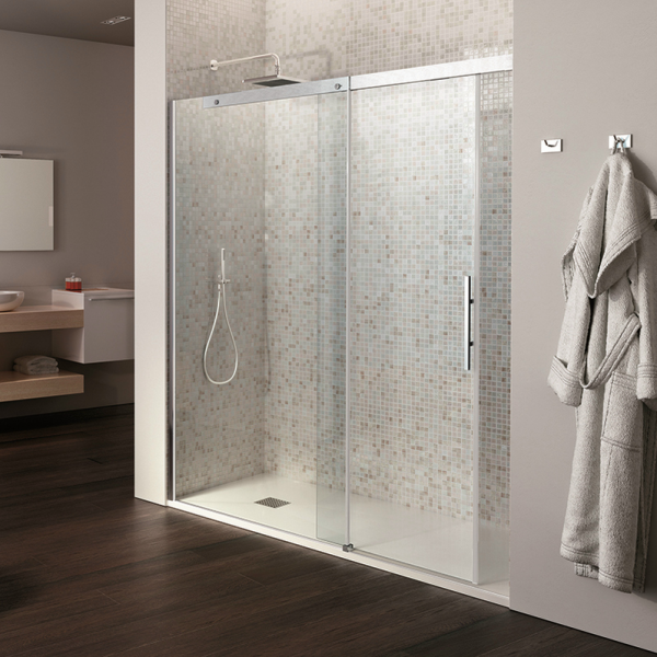porte de douche coulissante verre transparent 8 6mm pluma. Black Bedroom Furniture Sets. Home Design Ideas