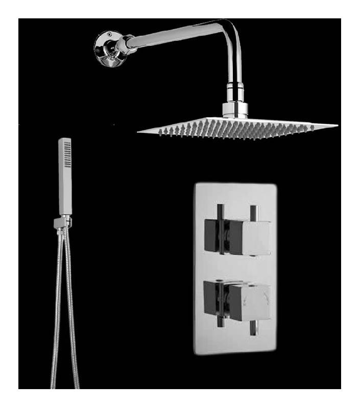 kit de douche thermostatique encastrer multifonctions hudson reed comparer les prix de kit. Black Bedroom Furniture Sets. Home Design Ideas