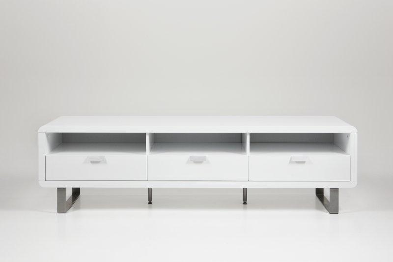 Meuble Tv Home Cinema Design Milki Laque Blanc
