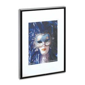 photo album company cadre photo contour alu noir plaque transparente incassable format 30x42 cm. Black Bedroom Furniture Sets. Home Design Ideas