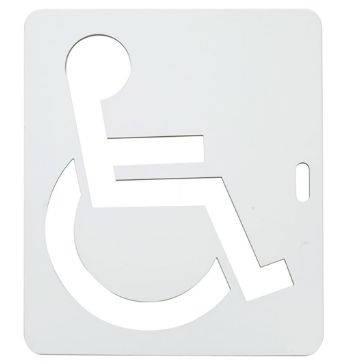 Pochoir handicapé - direct signaletique - en pvc