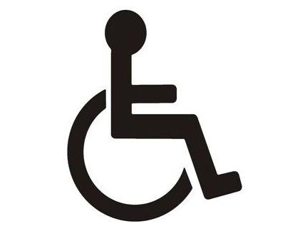 Ce14 - pochoir handicapé - pochoir de signalisation - en plastique