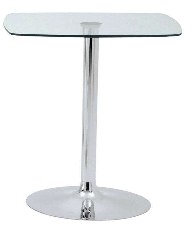 DAPHNÉ / TABLE CARRÉE H72 X 70 X 70 CM VERRE TRANSPARENT