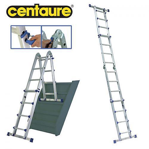 echelle t lescopique multi positions hauteur travail 4 8 m telescab 39 o centaure comparer les. Black Bedroom Furniture Sets. Home Design Ideas
