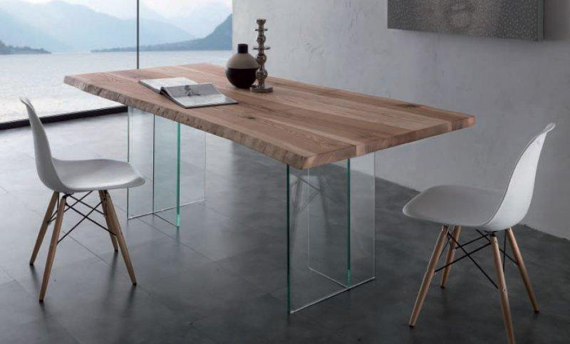 table repas bio glass en bois massif pietement en verre. Black Bedroom Furniture Sets. Home Design Ideas