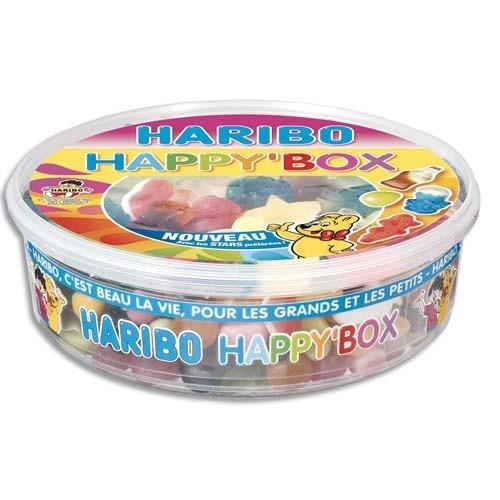 HARIBO BOÏTE DE 600G HAPPY BOX ASSORTIMENT DE BONBONS :