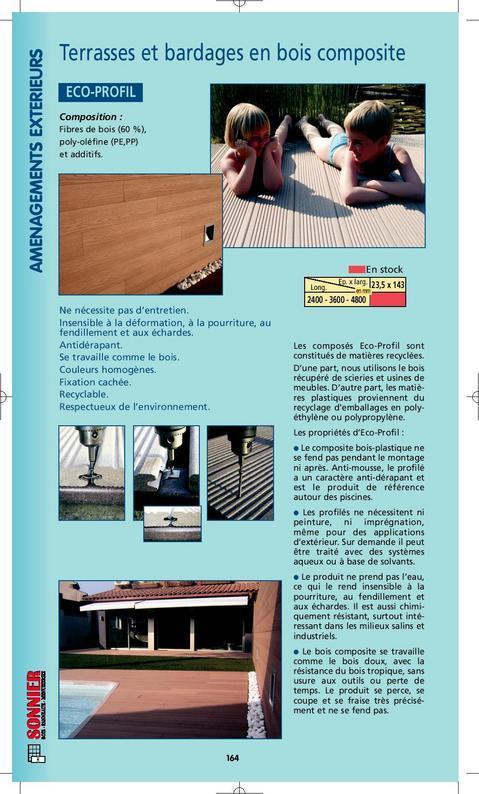 lames de terrasse en bois composite eco profil. Black Bedroom Furniture Sets. Home Design Ideas