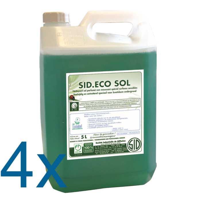 Nettoyant sol parfumé non moussant spécial entretien régulier et surfaces sensibles sid.eco sol