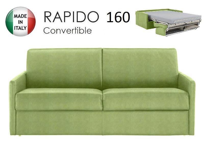 canape lit 4 places sun convertible ouverture rapido 160cm microfibre vert anis. Black Bedroom Furniture Sets. Home Design Ideas