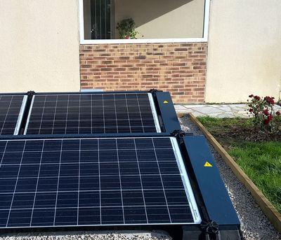 panneau solaire photovoltaique mon soleil moi dans votre jardin au sol. Black Bedroom Furniture Sets. Home Design Ideas