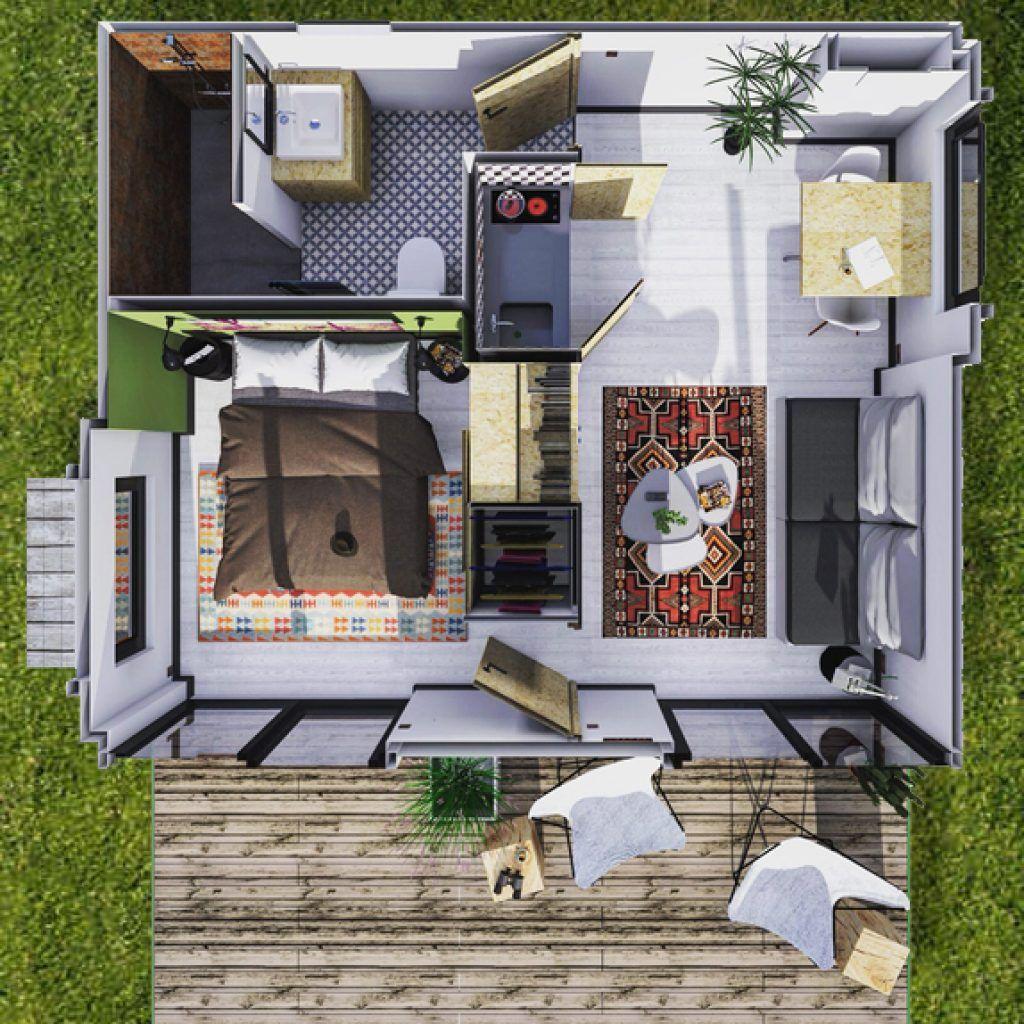 Container Aménagé Studio Prix studio de jardin t2 ? 28m2 maison container