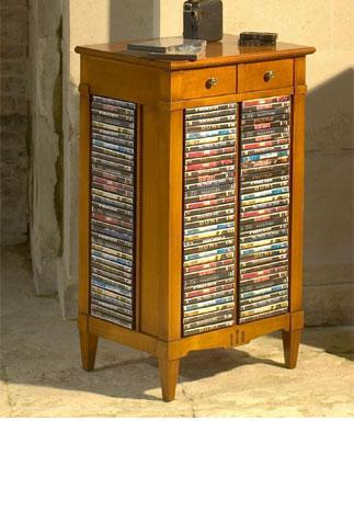 meuble de rangement pour dvd style louis xvi. Black Bedroom Furniture Sets. Home Design Ideas