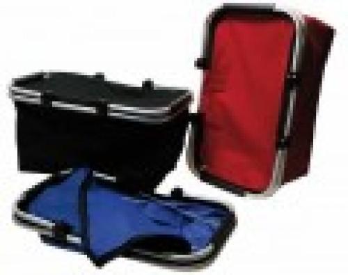 panier de course pliable coloris noir. Black Bedroom Furniture Sets. Home Design Ideas