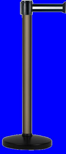 Poteau Alu Bronze à sangle Noir/Argent 3m x 50mm sur socle portable - 2010047