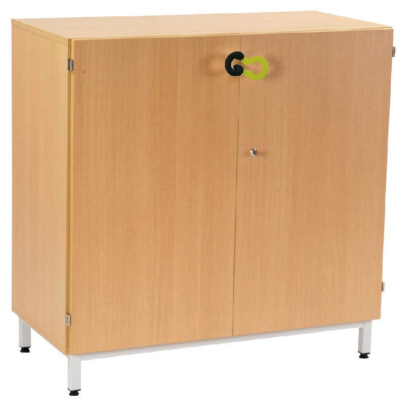 armoire scolaire portes battantes hauteur 1 m coloris h tre comparer les prix de armoire. Black Bedroom Furniture Sets. Home Design Ideas