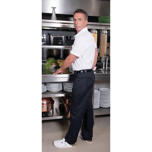 Pantalon de cuisine noir m for Pantalon cuisine noir
