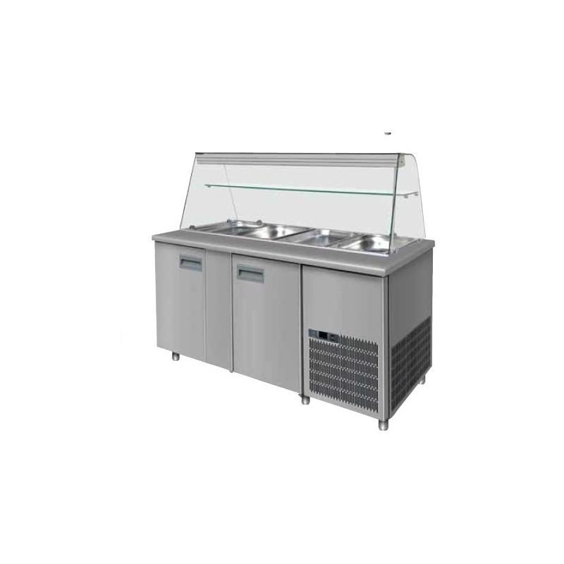 Saladette réfrigérée 612 litres 5x 1/1 gn professionnel
