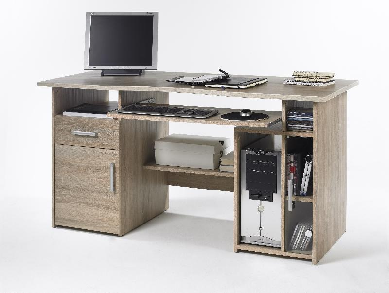 bureau droit cuba ch ne largeur 150 cm comparer les. Black Bedroom Furniture Sets. Home Design Ideas