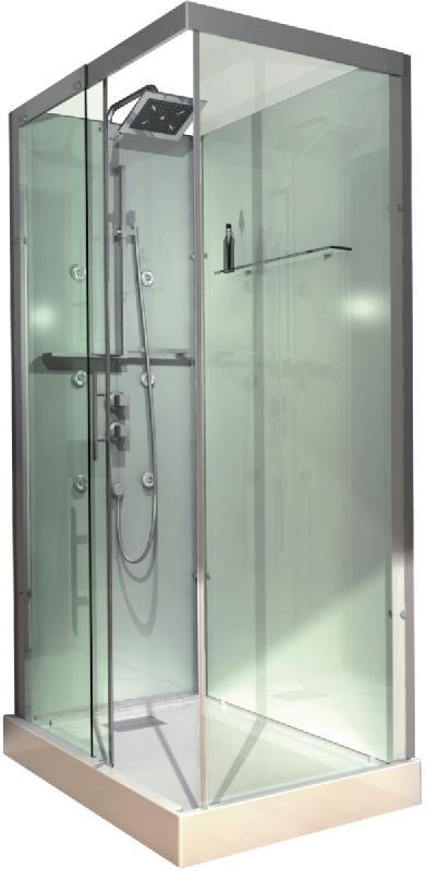 cabine domino complete rectangulaire 110x80 cm version hydro. Black Bedroom Furniture Sets. Home Design Ideas