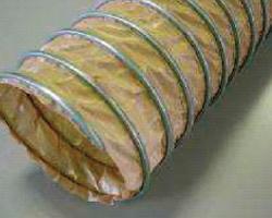 Gaine flexible et légère en tissu de verre enduit ptfe spirale acier