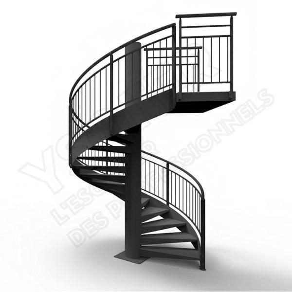 escalier helicoidal hauteur 4m