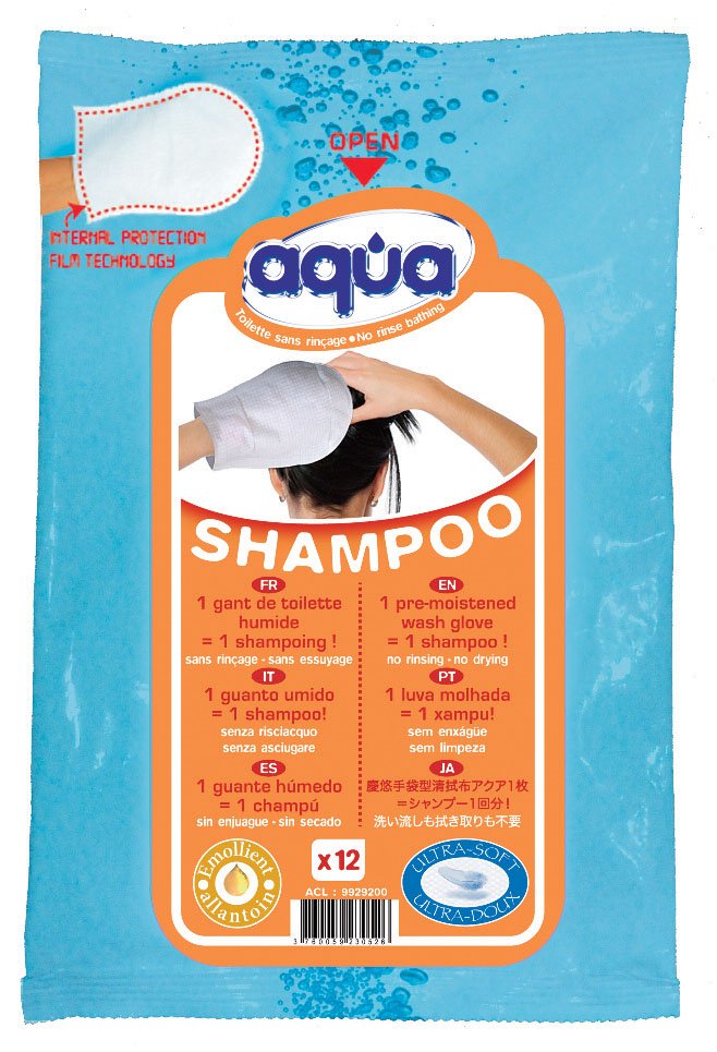 Gant shampoing aqua