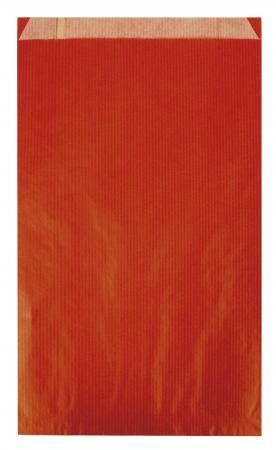 101651 - CARTON DE 250 POCHETTES KRAFT À SOUFFLET 12X4X21 CM, COLORIS ROUGE