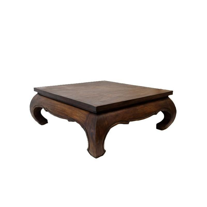 table basse opium 100 x 100 cm en bois massif. Black Bedroom Furniture Sets. Home Design Ideas