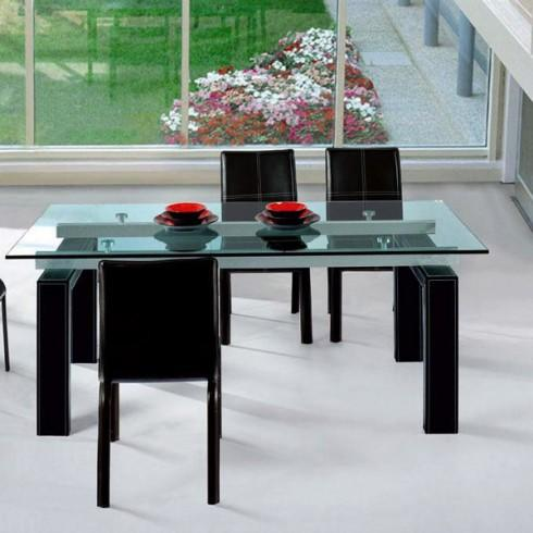 table salle a manger en verre mobilier sur enperdresonlapin. Black Bedroom Furniture Sets. Home Design Ideas
