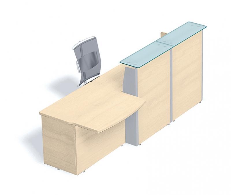 comptoir verre avec retour gauche l 293 x p 95cm. Black Bedroom Furniture Sets. Home Design Ideas
