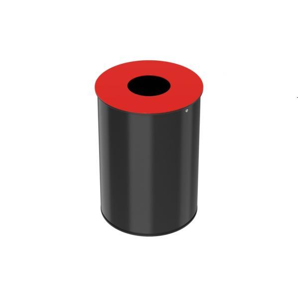 Corbeille de tri sélectif 30 litres - neotri couvercle : rouge