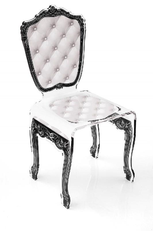 capiton chaise en plexi blanche par acrila. Black Bedroom Furniture Sets. Home Design Ideas