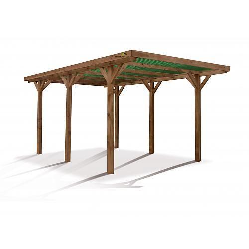 Garage en bois madeira achat vente de garage en bois for Garage bois autoclave 20 m2