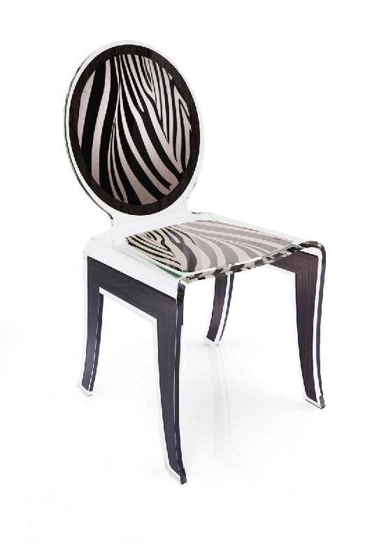 wild chaise design en plexi zebree noir blanc par acrila. Black Bedroom Furniture Sets. Home Design Ideas