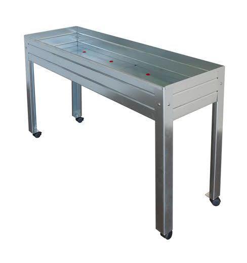 Jardini re comparez les prix pour professionnels sur for Table exterieur galvanise