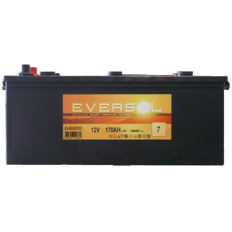 batterie d charge lente 170ah 12v eversol comparer les prix de batterie d charge lente. Black Bedroom Furniture Sets. Home Design Ideas