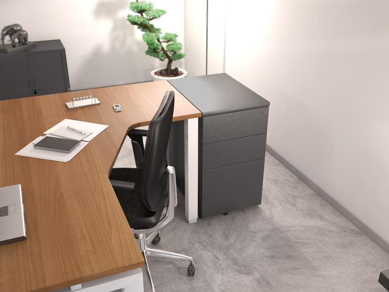 caissons de bureaux fixes factodesk achat vente de. Black Bedroom Furniture Sets. Home Design Ideas