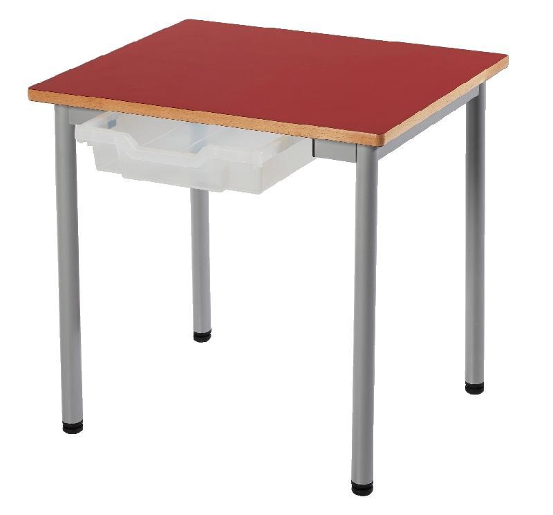 Table fixe t3 zoe 4 pieds metal 60 x 50 cm avec casier for Meuble 70x70