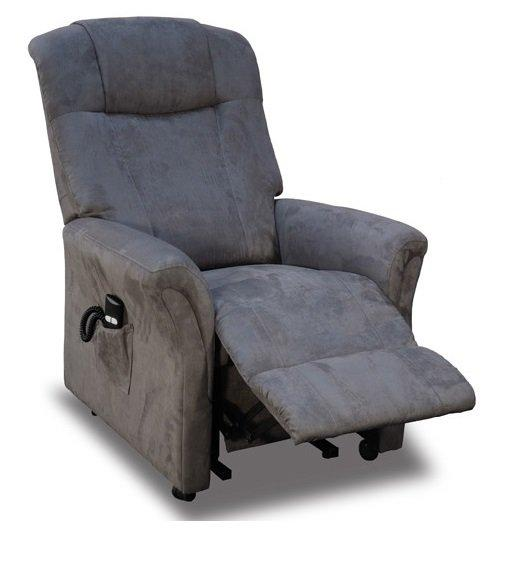 freedom fauteuil relax et releveur electrique mono moteur microfibre gris. Black Bedroom Furniture Sets. Home Design Ideas