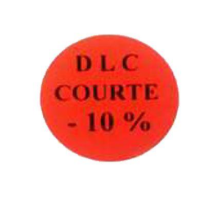 étiquette adhésive  d.l.c. courte -10%