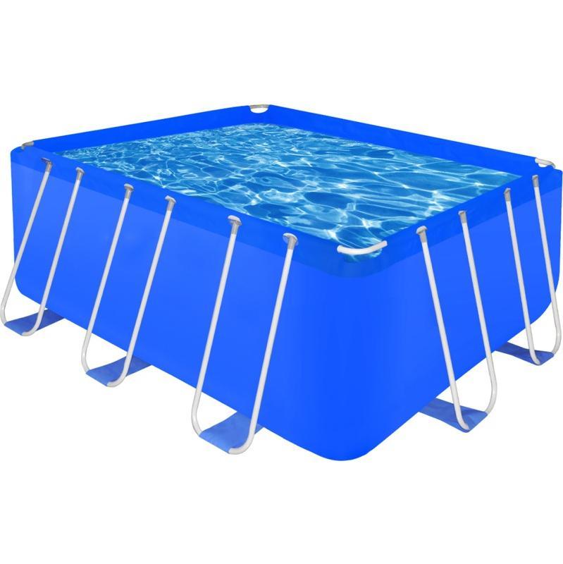 Piscines vidaxl achat vente de piscines vidaxl for Piscine rectangulaire acier
