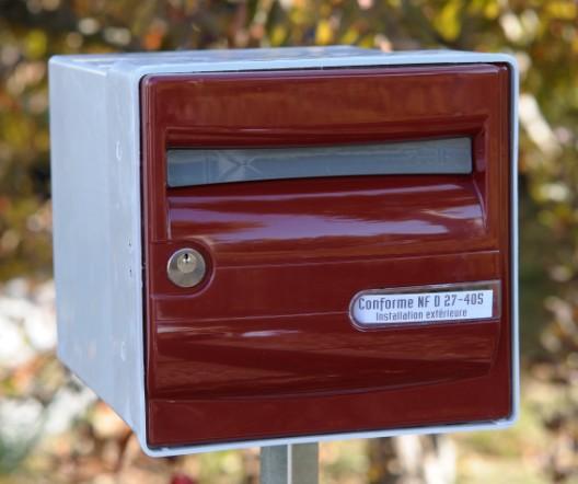 Boite Aux Lettres Corail Individuel Rouge