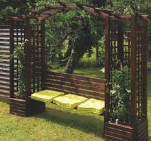 pergola en bois avec banc florence comparer les prix de pergola en bois avec banc florence sur. Black Bedroom Furniture Sets. Home Design Ideas