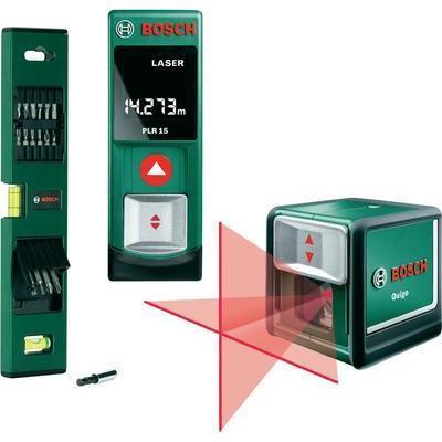 Set bosch niveau laser en croix quigo t l m tre laser for Niveau laser bosch quigo 2