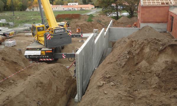 Murs de soutènement industriel
