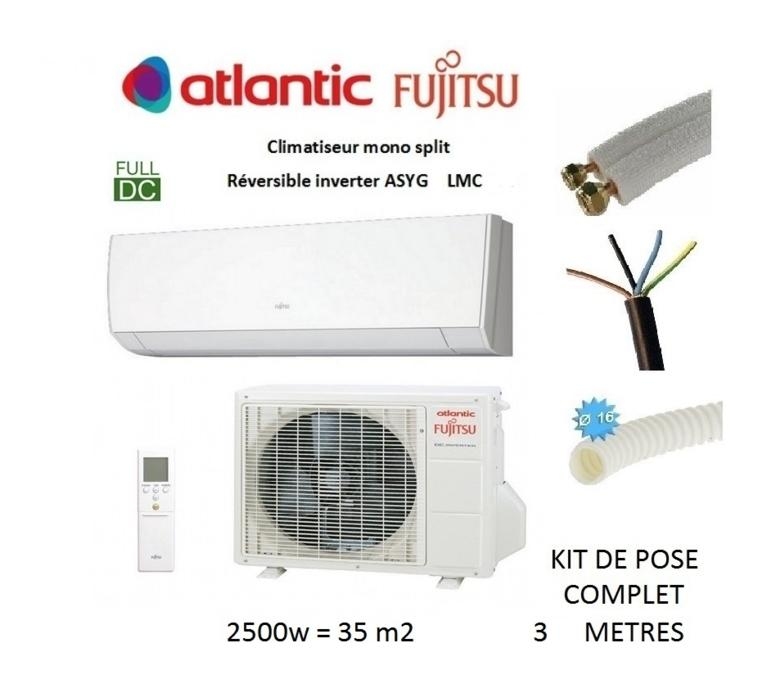 Climatiseurs splits r versibles atlantic fujitsu achat - Clim reversible atlantic ...