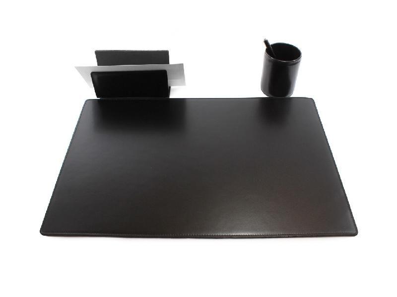 sous main de bureau en cuir couleur cuir pleine fleur beige taille sous main moyen 60x40. Black Bedroom Furniture Sets. Home Design Ideas